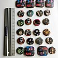 KISS old buttons badges
