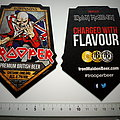 Iron Maiden  shaped coaster  cardboard beer mat trooper premium 9.5 x 12.5 cm