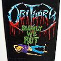 Obituary - Patch -  Obituary   back patch 1990 backpatch slowly we rot brandnew bp131