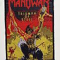 Manowar - Patch - Manowar 1992 official patch m366  triumph of steel 9.5 x 13 cm