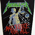 Metallica  1988 backpatch and justice for all bp703 --- 30 x 25 x 35 cm