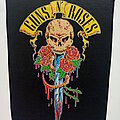 Guns N' Roses - Patch - Guns N' Roses official 1991 backpatch Skull and Dagger