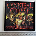 Cannibal Corpse patch c248 --10 x 10.5 cm printed
