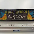 Iron Maiden - Patch - Iron Maiden official  2004 strip Fear of the dark patch 208
