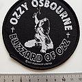 Ozzy Osbourne round blizzard of ozz patch 32