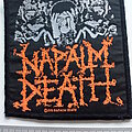 Napalm Death - Patch - Napalm Death - official 1991  From Enslavement To Obliteration  patch used740