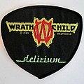 Wrathchild delirium 1989   patch w5 ----8x 9cm