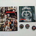 Metallica - Other Collectable - Metallica 3x button, ansichtkaart en sticker James Hetfield