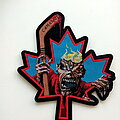 Iron Maiden - Patch - Iron Maiden shaped patch 278 Canadian hockey
