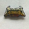 Metallica - Pin / Badge - Metallica   Alcoholica 100 proof pin badge no329