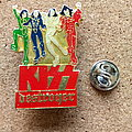 Kiss - Pin / Badge - Kiss official   1989 destroyer pin speld badge