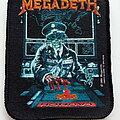 Megadeth - Patch - Megadeth   official 1990 Launch patch 19-- 8.x10 cm