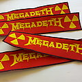 Megadeth strip patch 63   size 4 x 19.5 cm