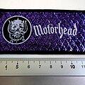 Motörhead - Patch - MOTORHEAD snaggletooth + logo early 80's patch 48 --4.5x10cm