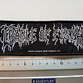 Cradle Of Filth  stripe logo   patch c151 size 5 x 14.5 cm