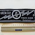 Green Day 2004  pirate radio strip patch g139  size 6.5 x 19 cm