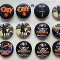 Ozzy Osbourne - Pin / Badge - Ozzy Osbourne, Aerosmith new buttons 3.1 cm   b51