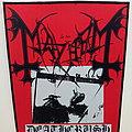 Mayhem printed backpatch bp539 - 29.5x35x25 cm patch
