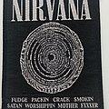 Nirvana - Patch - Nirvana - Vestibule patch used693  official1993 --9.5x12 cm