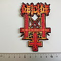 Deicide shaped end of the world tour patch d295