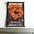 Accept russian roulette 80's patch a97  -- 8x11 cm
