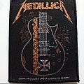 Metallica hetfield guitar les paul patch116