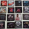 rock/metal patches photo printed  new 9x9.5 patch