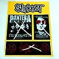 new stickers,slayer,pantera,doors,slipknot off.merchandise no 1350