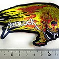 Metallica flaming skull shaped patch 168