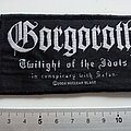 Gorgoroth - Patch - Gorgoroth official 2004 twilght of the idols patch g68