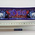 Dio strip patch 55 master of the moon   6 x19 cm