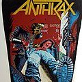 ANTHRAX   1985 backpatch   red mask bp202 patch 36X26X30 cm