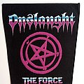 Onslaught - Patch - Onslaught   1986 The Force backpatch new 31x24x36 patch bp203