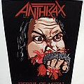 Anthrax fistful of metal 1984 backpatch bp194 ---36X26X30  patch