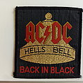 AC/DC   hells bell/ back in black 80's patch 51