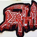 Death - Patch - Death big shaped woven backpatch bp710 -- 29x26cm  as new