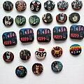 Kiss - Pin / Badge - Kiss  various old buttons