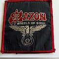 Saxon wheels of steel 80's patch used186