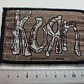 Korn - Patch - Korn official 2000 logo Brick Wall Woven Patch used727