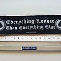 Motorhead everything louder... strip patch 8  size 5 x 19.5 cm