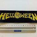 Helloween strip patch h74  size 5.5 x 20 cm