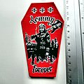 LEMMY forever coffin patch 199 red border . limited to 150 copys