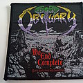 Obituary the end complete  1992 patch o53--- 10x10 cm