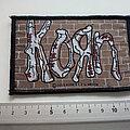 Korn - Patch - Korn - official 2000 logo Brick Wall Woven Patch k169
