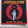Annihilator - Patch - Annihilator alice in hell patch a259 red border