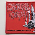 Cannibal Corpse - Patch - Cannibal Corpse hammer smashed face red border patch c280