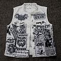 Woods Of Ypres - Battle Jacket - Black is boring. My white metal vest