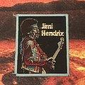 Jimi Hendrix - Gold Glitter patch