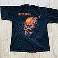 1989 Sepultura Beneath The Remains European Tour Shirt XL
