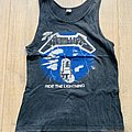 1985 Metallica Ride The Lightning European Tour Tanktop TShirt or Longsleeve